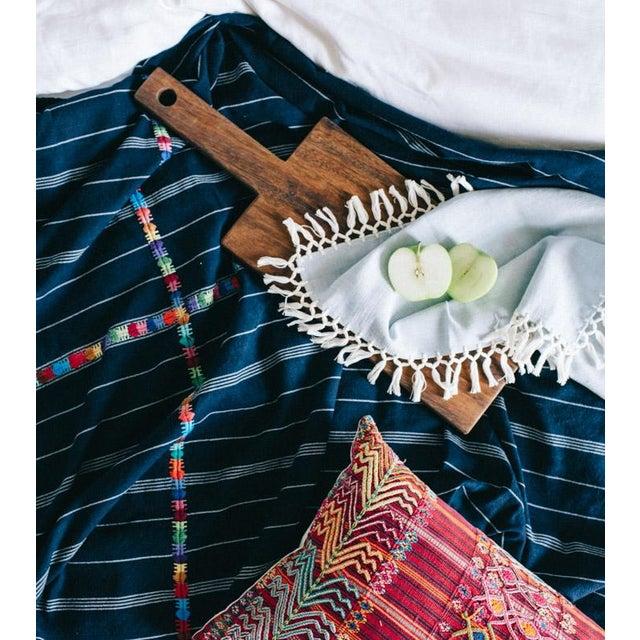 Vintage Guatemalan Red & Pink Striped Pillow - Image 6 of 6