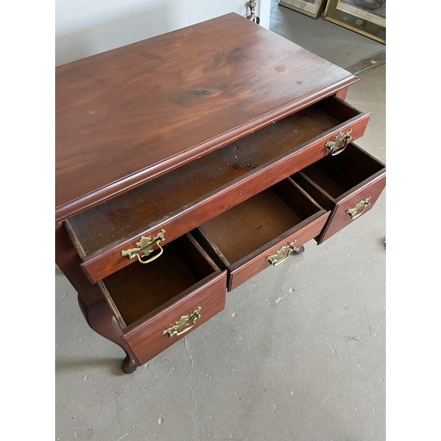 19th Century Queen Anne Style Solid Mahogany Chest With Cabriole Legs For Sale In Minneapolis - Image 6 of 13