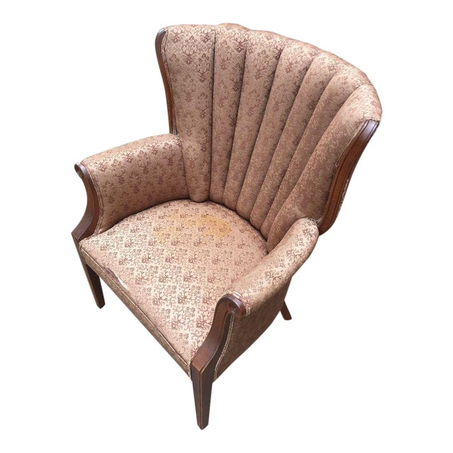 Hollywood Regency Channel Back Chair For Sale