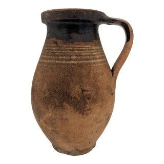 1800's Italian Terracotta Wine Jug/ Vase For Sale