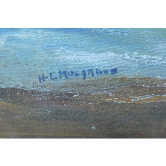 MCM Painting of Rocky Shore by H.L. Musgrave - Image 5 of 6