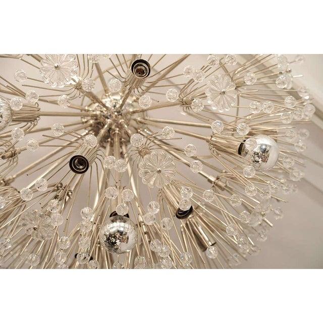 Ceiling hanging Austrian chandelier.