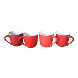 Emile Henry Red Mugs - Set of 4