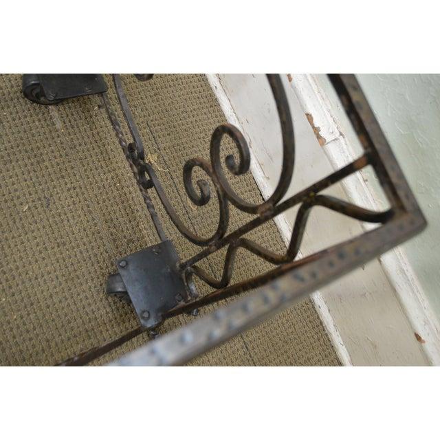 Vintage Hand Forged Iron Casket Carrier Base on Castors - Image 4 of 11