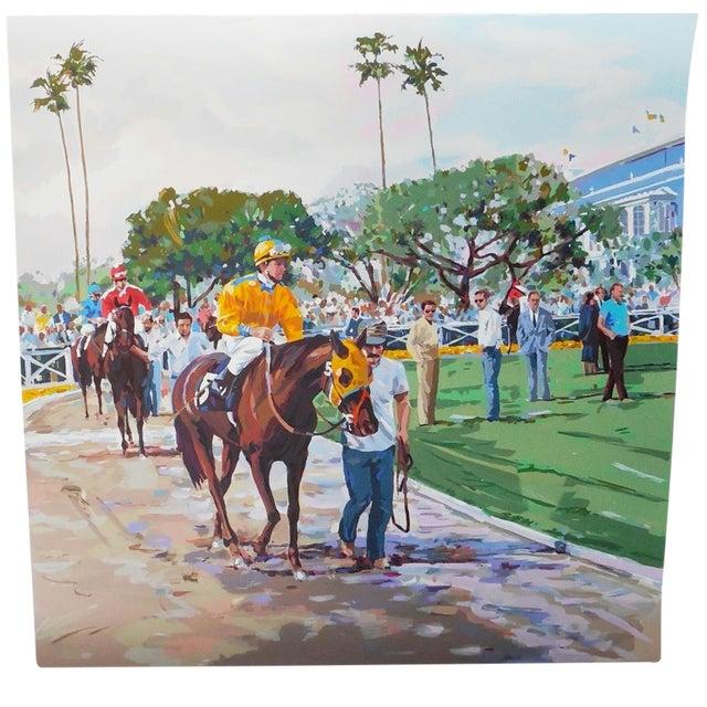 """Riders Up"" Signed Serigraph by Robert Schaar - Image 1 of 10"