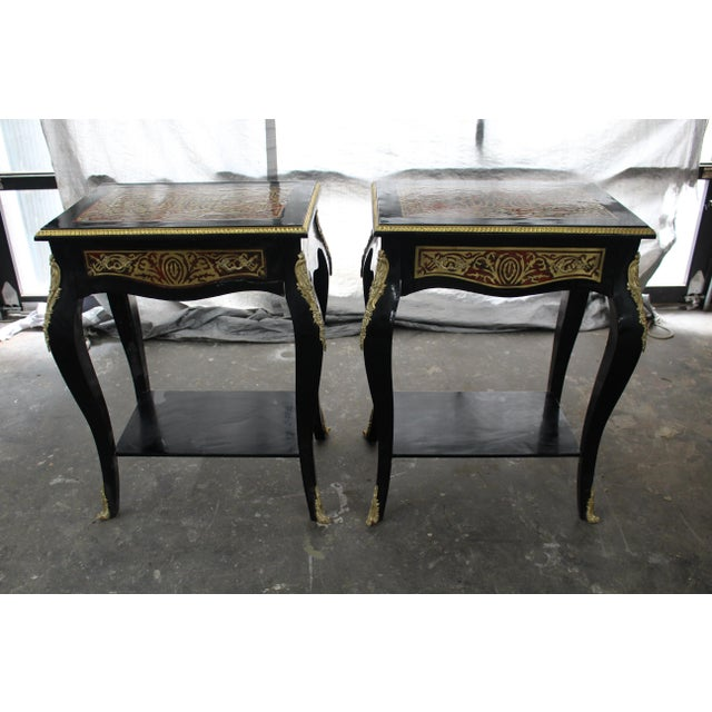 Mid 19th Century 19th Century Art Noveau Boulle Occasional Tables - a Pair For Sale - Image 5 of 10