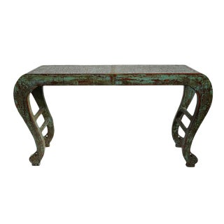 Turquoise Waterfall Altar Table For Sale