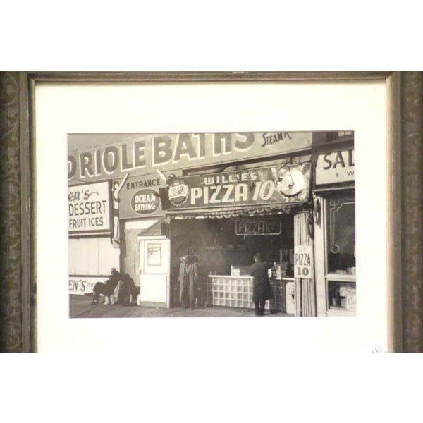 American Original Photo of Coney Island Pizza Stand For Sale - Image 3 of 5