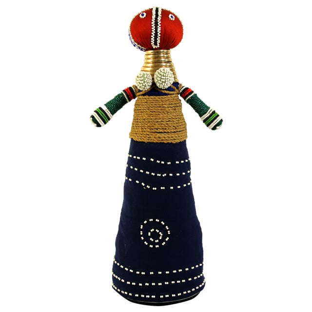 African Folk Art Ceremonial Doll - Image 1 of 6