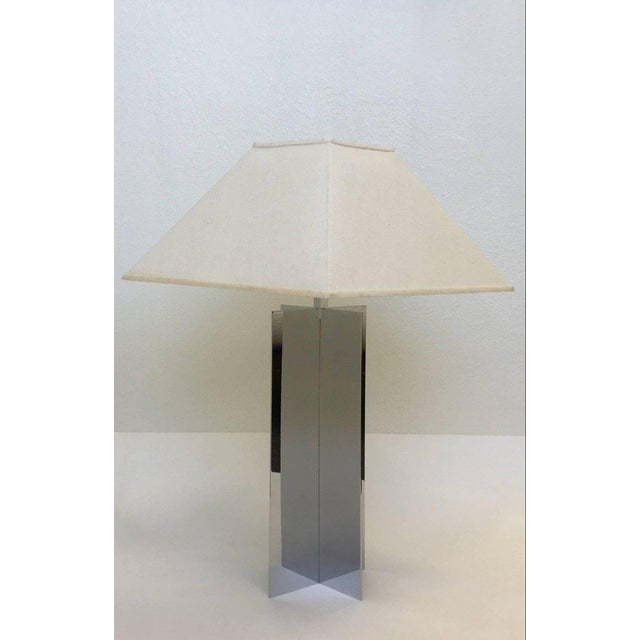 1970s Polished Aluminium Table Lamps by Paul Mayen for Habitat - A Pair For Sale - Image 5 of 10