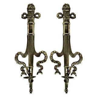Neoclassical Style Candle Sconces - A Pair For Sale