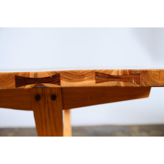 George Nakashima Style Conoid Dining table For Sale - Image 10 of 10