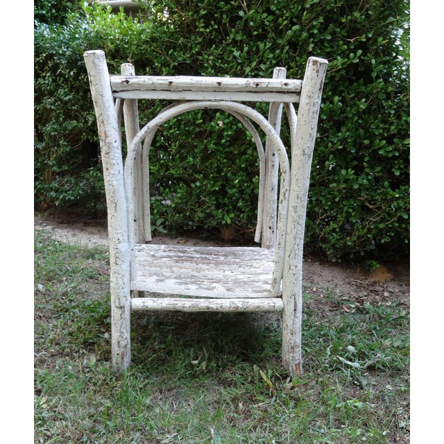 Wood Early 20th Century Rustic Adirondack Side Table For Sale - Image 7 of 8