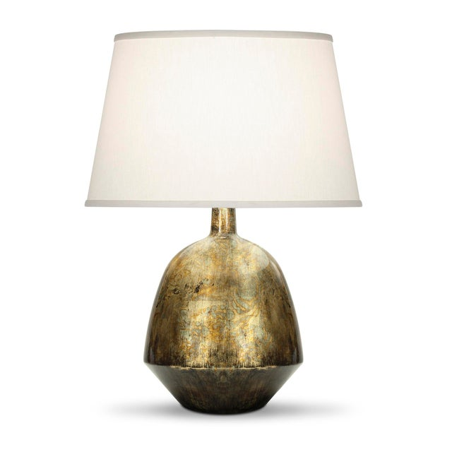 Part of the Silhouette Lighting by CuratedKravet collection, this exclusive ceramic table lamp features a distressed...