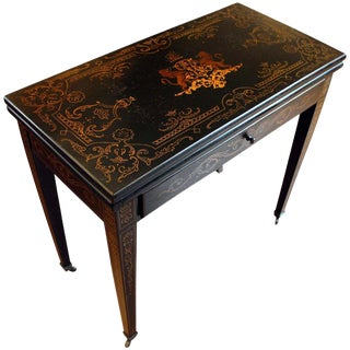 French Painted Games Table For Sale