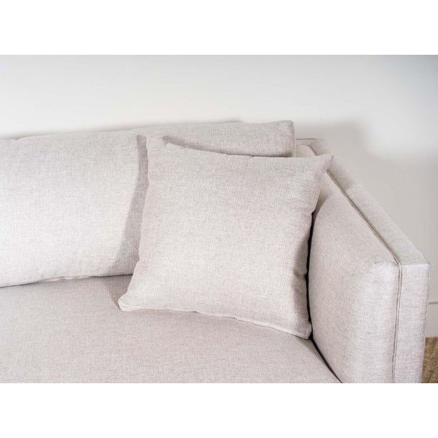 Upholstered sofa Fabric: Haddam- 100% Polyester Microdown seat cushions and back pillows Two 20x20 throw pillows Medium...