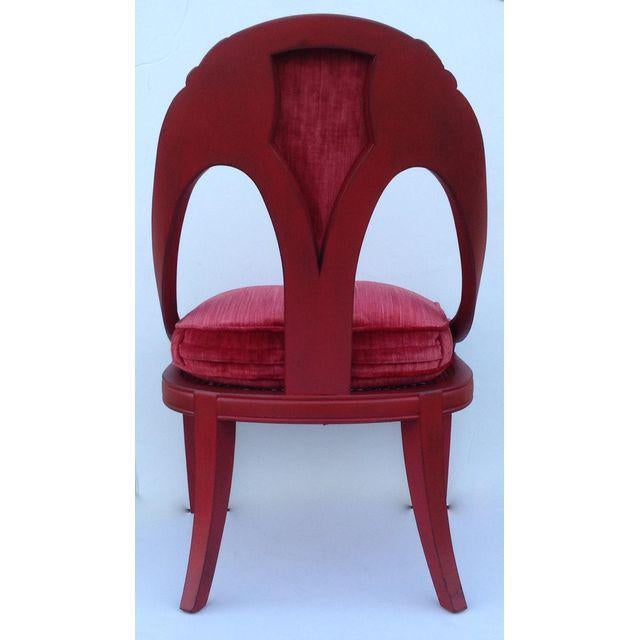 Caning Hollywood Regency Spoon Back Chairs - a Pair For Sale - Image 7 of 10