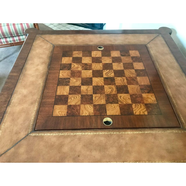 Wood Ethan Allen Game Table For Sale - Image 7 of 9