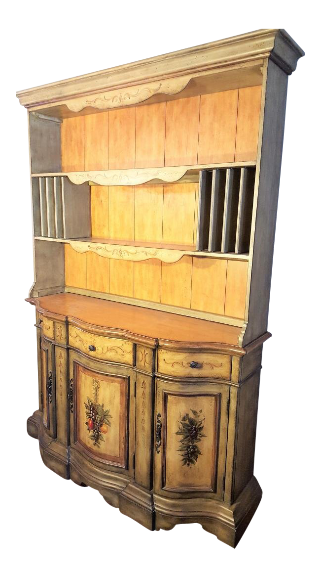 dining buffet and hutch farm style buffet tuscan style wood dining buffet hutch chairish