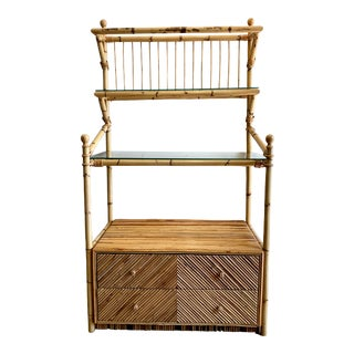 1970s Split Reed Etagere For Sale