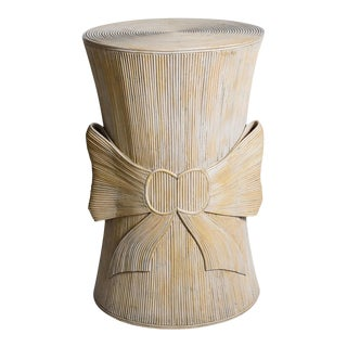 Pencil Bamboo Table Base/ Stand With Large Bow, Manner of Betty Cobonpue For Sale