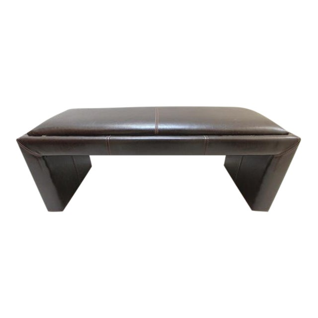 Divani Chateau d\'Ax Leather Bench   Chairish