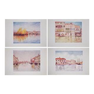 Original Antique Lithographs of Venice by M. Menges - Set of 4