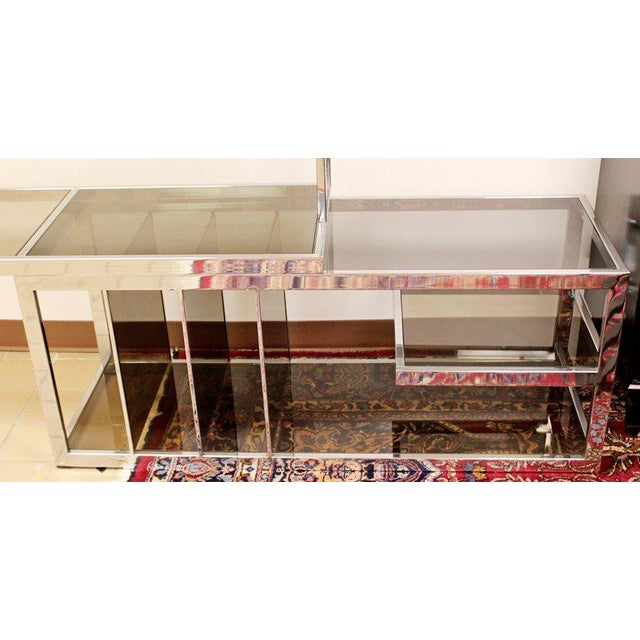 Mid Century Modern Baughman Chrome Expandable Shelving Unit Etagere 1970s For Sale In Detroit - Image 6 of 8