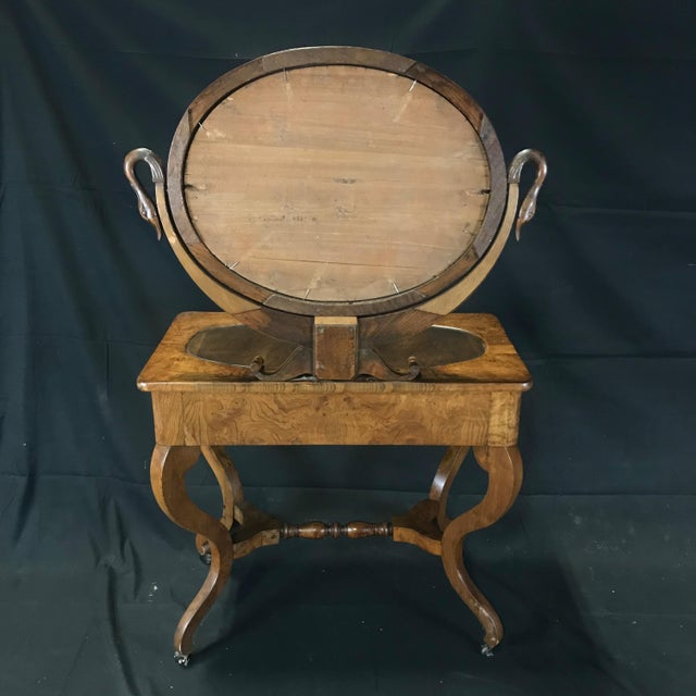 Mid 19th Century French Walnut Dressing Table For Sale - Image 12 of 13
