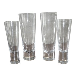 Iittala Aarne Champagne and Pilsner Glasses - Set of 4 For Sale