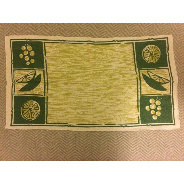 Vintage Linen Placemats & Napkins - Set of2 - Image 3 of 4