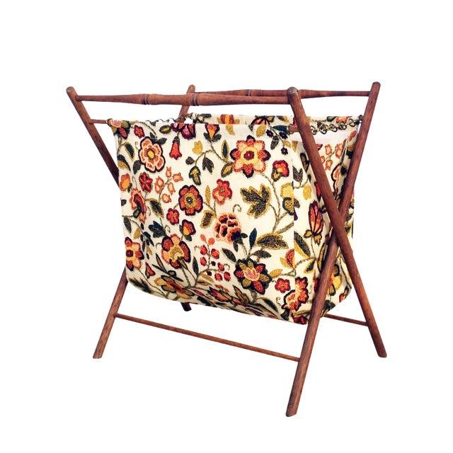 Vintage Folding Sewing Basket / Hamper - Image 1 of 7