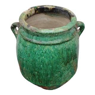 Moroccan Green Tamegroute Urn, Vase, Jar. 204lm24 For Sale