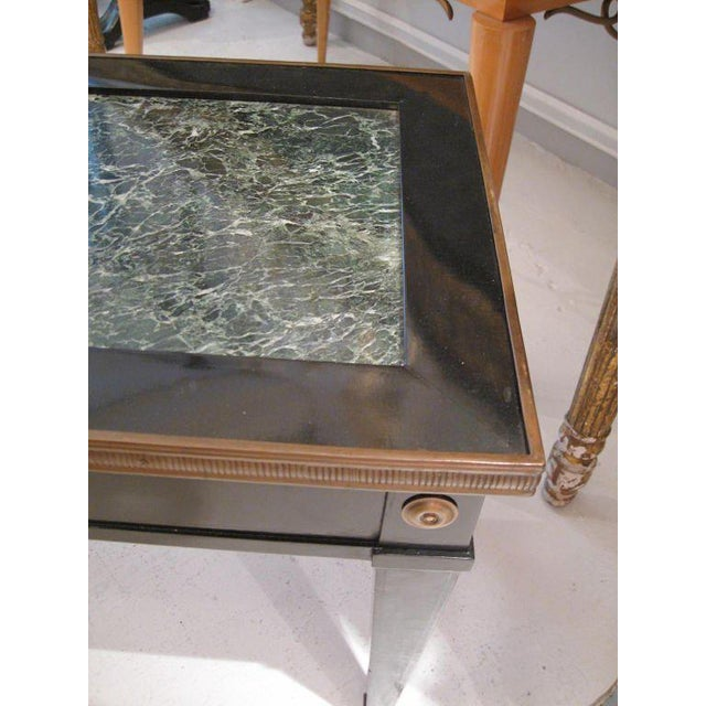 Maison Jansen Jansen Marble-Top Coffee Table in the Directoire Manner For Sale - Image 4 of 5