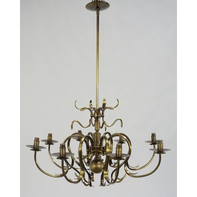Grag Studios 8 Light Brass Chandelier - Image 2 of 10