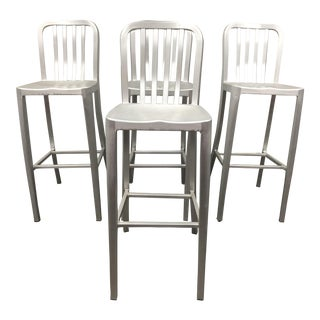 Crate & Barrel Delta Barstools - Set of 4