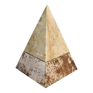 "Parchment ""Pyramid"" Design Ice Bucket For Sale"