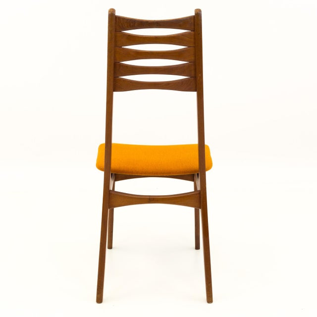 Wood Vintage Mid Century Teak Bow Tie Ladderback Dining Chairs- Set of 6 For Sale - Image 7 of 12