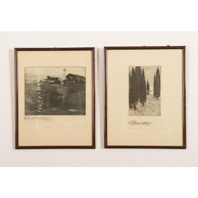 1900 - 1909 Marianne Hitschmann-Steinberger Etching From 1900 Set of Two For Sale - Image 5 of 10