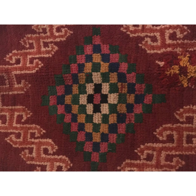 Vintage Moroccan Wool Pillow - Image 3 of 10