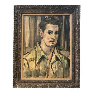 1950 Oil Painting Portrait of a Man