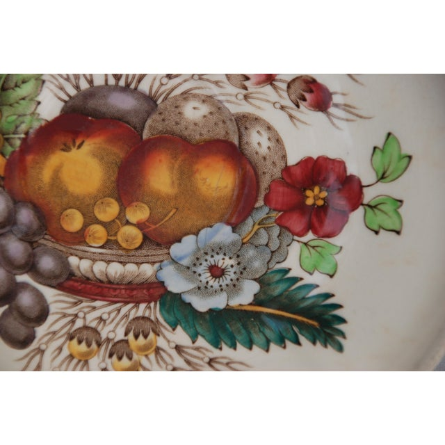 Cottage Vintage English Cottage Style Spode Saucer in the Reynolds Pattern For Sale - Image 3 of 8
