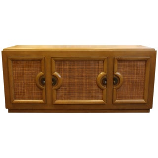 Mid-Century Modern Paul Laszlo Credenza Sideboard Buffet Cane and Wood, 1950s For Sale
