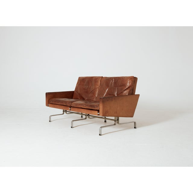 Mid-Century Modern 1950s Vintage Poul Kjaerholm 'Kjærholm' for E. Kold Christensen Pk-31 Sofa For Sale - Image 3 of 11