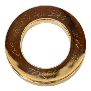 "1980s Vintage Silver Christofle ""Forget Me Not"" Bottle Ring For Sale"