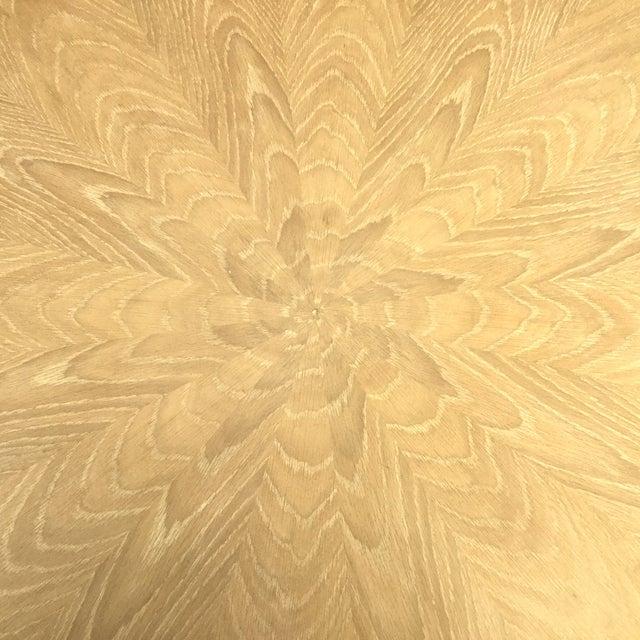 Cerused Oak Round Pedestal Table - Image 4 of 7