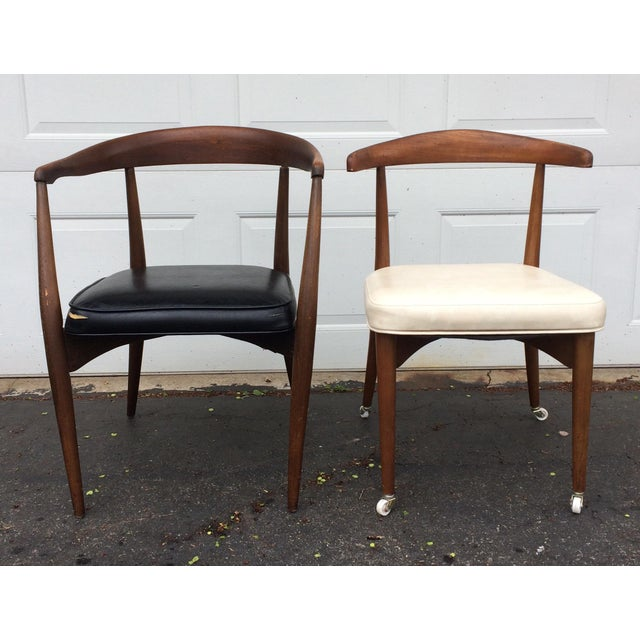 Danish Modern Lawrence Peabody for Richardson Nemschoff Chairs - A Pair For Sale - Image 3 of 11