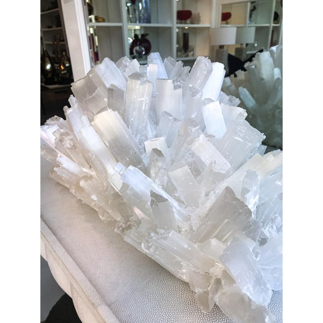 Make a statement in your home with this amazing Selenite Crystal Sculpture by Kathryn McCoy. This piece offers a one of a...