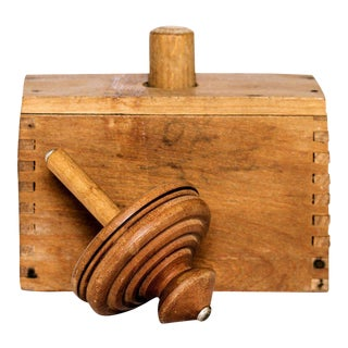 Vintage Wooden Butter Mold