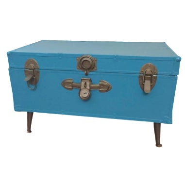 Blue Steamer Trunk Table - Image 1 of 6